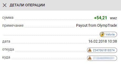выплаты с бинарных опционов